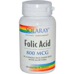 Ácido Fólico (b9) 800µg 100 cápsulas SOLARAY
