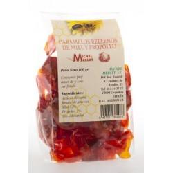 Caramelos rellenos de miel y propóleo 100 g Michel Merlet