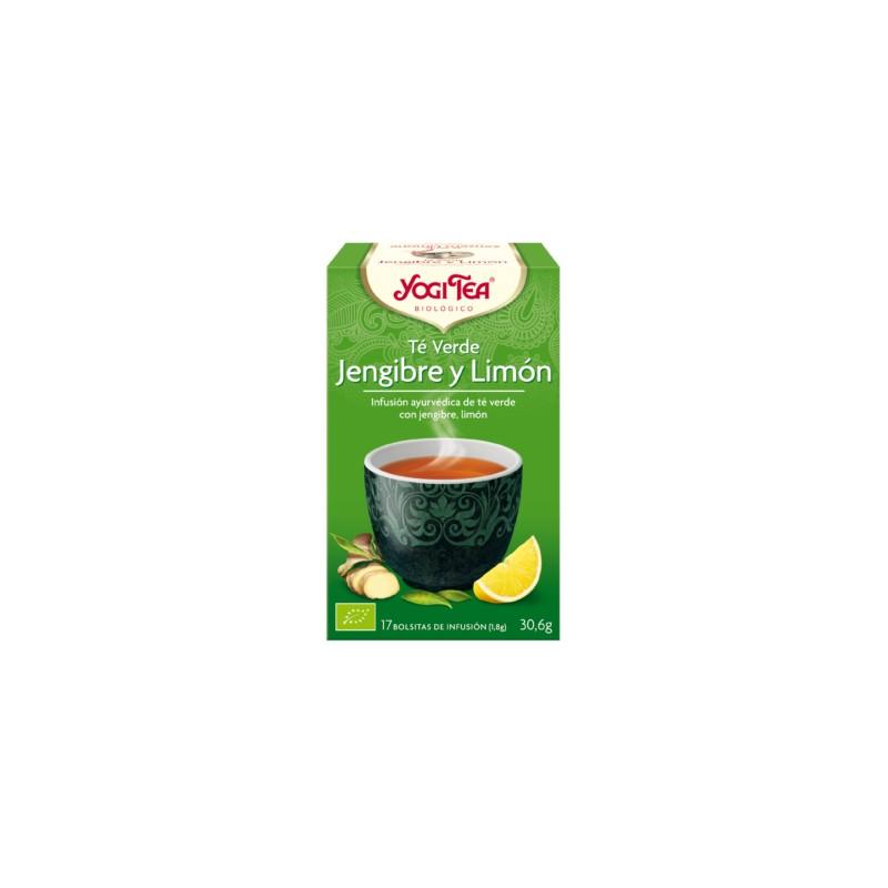 Yogi tea Té Verde Jengibre Limón BIO 17 bolsitas