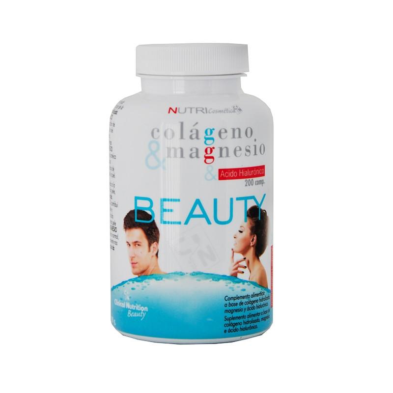 Colágeno, magnesio y a. hialuronico 200 comp. Nutricosmetica