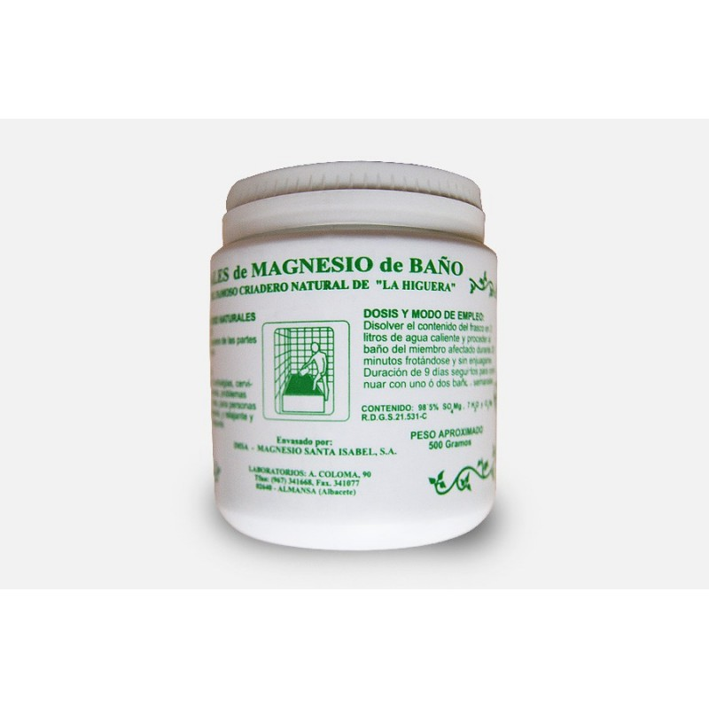 Sales de Magnesio de baño 500 gr Santa Isabel