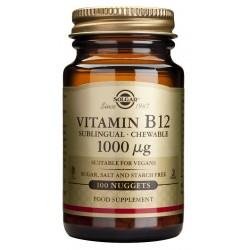 Vitamina B12 1000 μg (Cianocobalamina) 100 comp. masticables Solgar