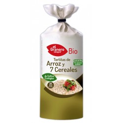 Tortitas de Arroz con 7 cereales BIO 100gr El Granero