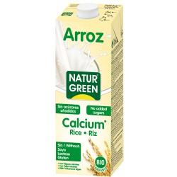 Bebida de arroz calcio 1 litro Bio Naturgreen
