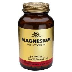Magnesio con Vit B6 250 cap Solgar