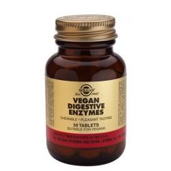 Enzimas Digestivas veganas 50 comprimidos masticables Solgar