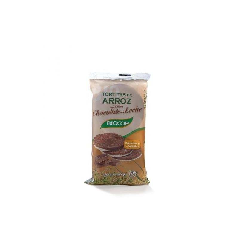 TORTITAS ARROZ CHOCOLATE CON LECHE 100GR BIOCOP