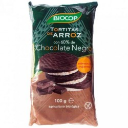 Tortitas de Arroz con chocolate negro Biocop 100g
