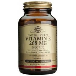 Vitamina E 400 UI 268 mg, 100 cáp. vegetales Solgar