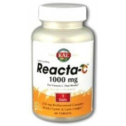 Reacta-C (vitamina C no ácida) 1000mg 60 comp KAL