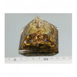 Piramide de orgonite ojo de tigre mediana