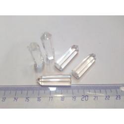 Generador punta pulida cuarzo blanco pequeña
