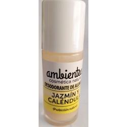 Desodorante de alumbre, jazmín y caléndula 50 ml Ambientea