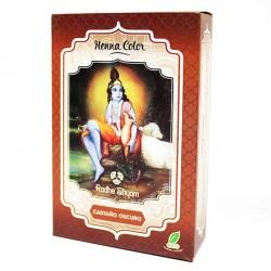 HENNA Castaño oscuro en polvo 100 g Radhe Shyam