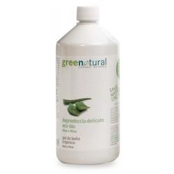 Gel de ducha delicado ecológico de Aloe y Olivo 1 litro Greenatural