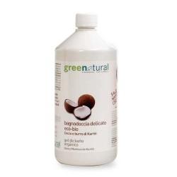 Gel de ducha coco y karité ecológico 1 litro Greenatural