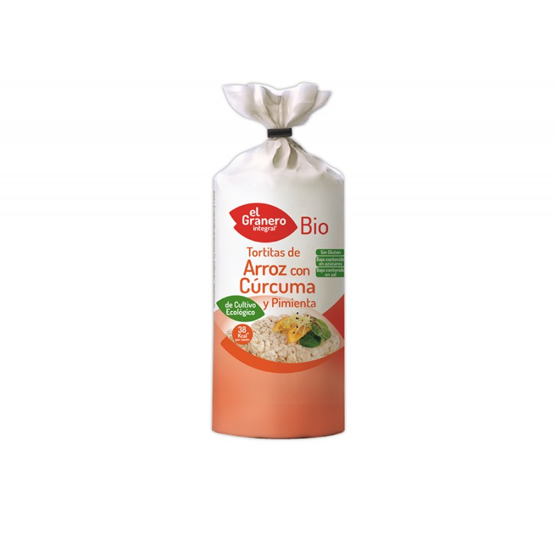 Tortitas de Arroz con Cúrcuma y Pimienta Sin Gluten Bio 115 g Granero Integral