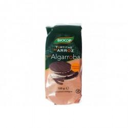 Tortitas de arroz con algarroba eco Biocop 100 g (6 x 16,6 g)