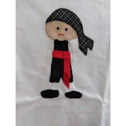 Camiseta manchego Feria de Albacete bordada a mano