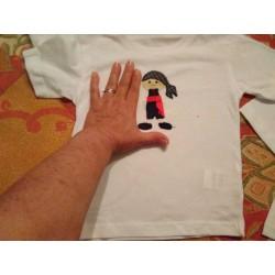 Camiseta manchego niño Feria de Albacete bordada a mano