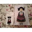 Camiseta manchega Feria de Albacete bordada a mano