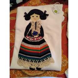 Camiseta manchega Feria Albacete bordada a mano en Naturalba