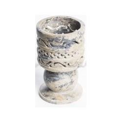 Incensario caliz de piedra para carbones y resina