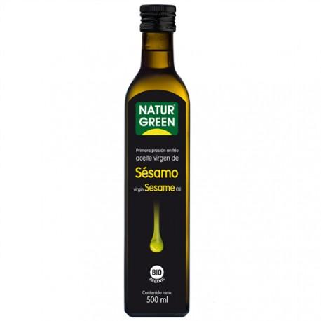 Aceite de Sésamo BIO 1ª presion en frio 500 ml Naturgreen