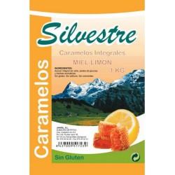 Caramelos de miel sabor limon con azucar integral 1kg Silvestre