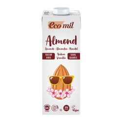 Bebida de de almendra vainilla 1 litro Bio Ecomil