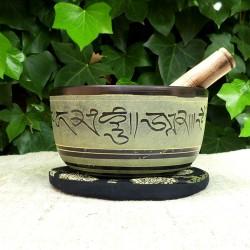 Cuenco Tibetano verde 15 cm
