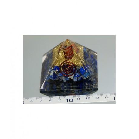 Piramide de orgonite lapislazuli grande