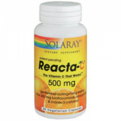 Vitamina Reacta C (no ácida) 500mg 60 cápsulas Solaray