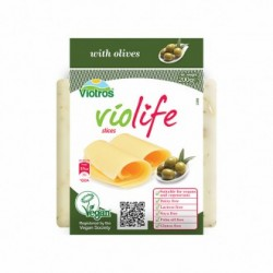 Queso vegano lonchas aceitunas 200gr Violife
