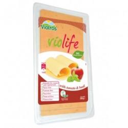 Queso vegano tomate & albahaca lonchas 200gr Violife