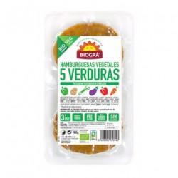 Hamburguesa Tofu Cinco Verduras Bio 160gr Biogra