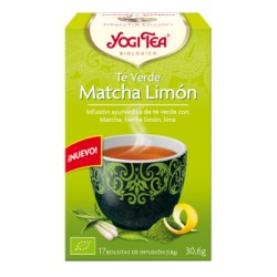 Yogi tea Té Verde Matcha Limón Bio 17 Bolsitas