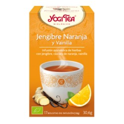 Yogi tea Jengibre, Naranja y vainilla Bio 17 Bolsitas