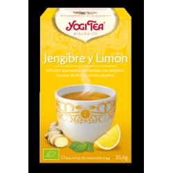 Yogi tea Jengibre y Limón Bio 17 Bolsitas