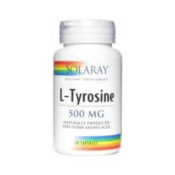 L-Tirosina 500 mg 50 cápsulas SOLARAY