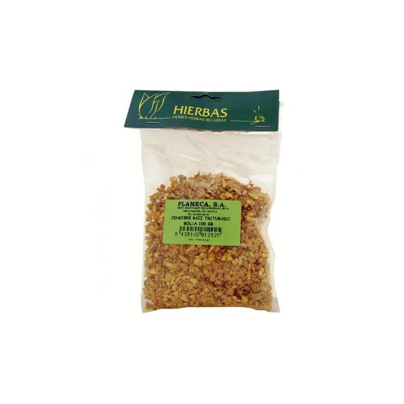 Jengibre raiz triturado 100 gr Plameca