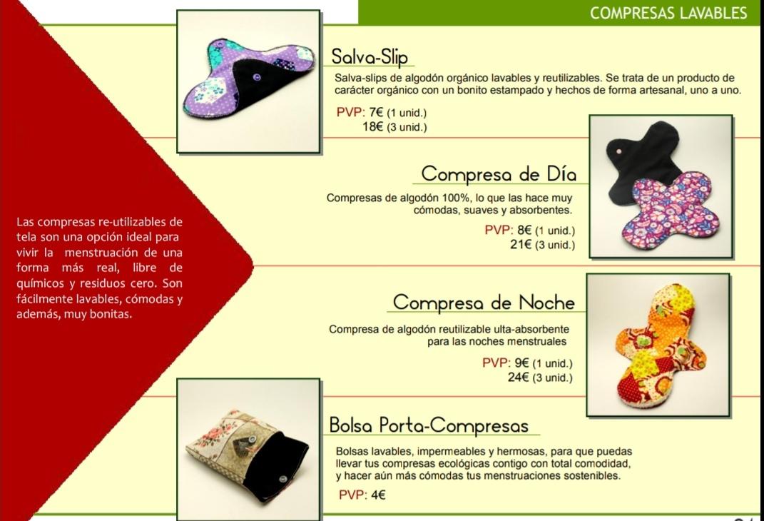 Compresas de tela Naturalba Albacete